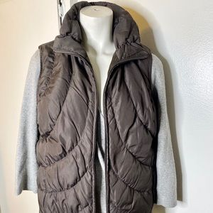 Nine West Brown Quilted ZIP Up Vest M